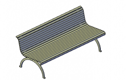 Balcony and outdoor seating chair 3d