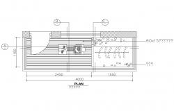 Balcony and wardrobe of house cad floor plan details dwg file