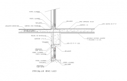 Balcony section structure detail dwg