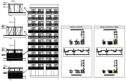 Emergency exit stairs detail design drawing