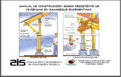 Bamboo construction earth quake resistant details dwg file