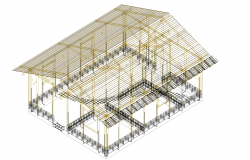 Bambu 3D house plan detail dwg file.