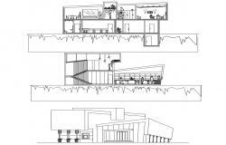 Bank Design Layout CAD Drawing Download