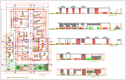 Bank Project detail dwg file