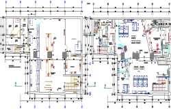 Bank agency layout plan dwg file