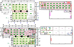 Bank agency office floor plan layout details dwg file