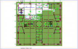 Bank architectural plan view dwg file