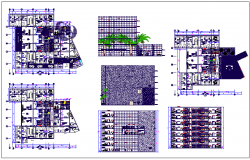 Bank branch building plan detail dwg file