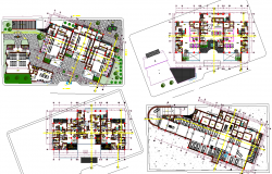 Bank building plan layout view detail dwg file
