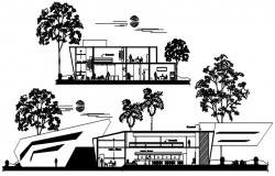 Modern Bank Design In DWG File