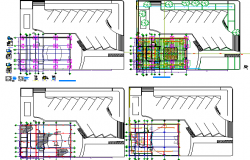 Bank floor general layout plan details dwg file