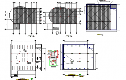 Bank floors general layout and auto-cad details dwg file