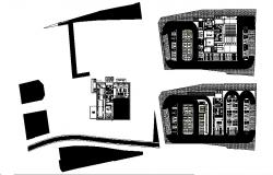 Bank head quarter office building floor plan layout cad drawing details dwg file