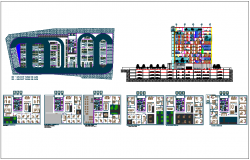 Bank headquarter detail dwg file