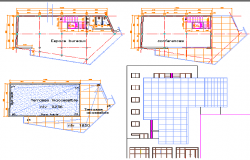 Bank layout plan, conference rooms in bank dwg file