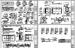 Bank office building architecture project details dwg file