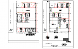 Bank office plan detail