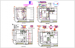 Bank structure detail plan view dwg file
