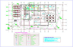 Banking agency plan with drain line and drain legend view dwg file