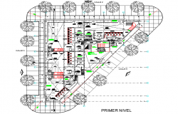 Banking center plan detail dwg file