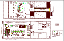 Banking superior pavement floor plan dwg file