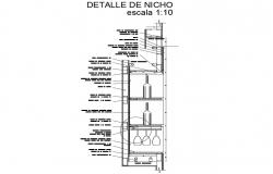 Bar store cut constructive structure cad drawing details dwg file