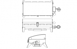 Barbecue elevation dwg file