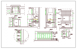 Barbecue grill roaster plant details dwg file
