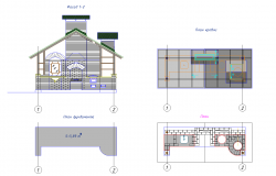 Barbecue plan detail dwg file.