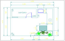 Barbecue restaurant architecture layout plan details dwg file