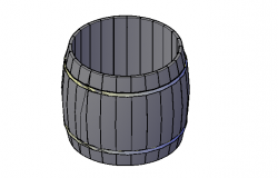 Barrel drum storage 3d details