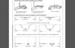 Barrisol installation and connection joints cad drawing details dwg file