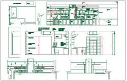 Barroom plan detail and elevation view detail dwg file