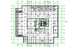 Basement Floor LAy-out. architectural autocad drawings