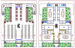Basement and first floor architecture layout plan details dwg file