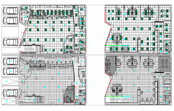 Basement and ground floor layout plan details of bank agency dwg file