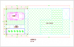 Basement area view in plan for housing dwg file