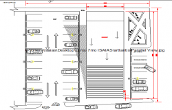 Basement car parking lot details of government office building dwg file