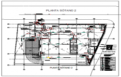 Basement floor 2 level design drawing of Ware house design drawing