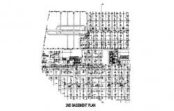 Basement floor layout plan details of industrial plant cad drawing details dwg file