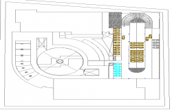 Basement floor layout plan details of shopping center dwg file