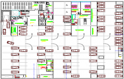Basement floor layout plan of high rise court house dwg file