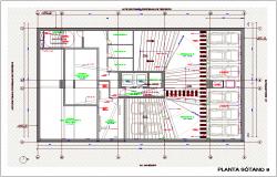Basement floor number nine for office design dwg file