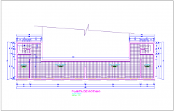 Basement floor plan of Auditorium dwg file