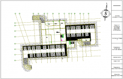Basement floor plan of medical center dwg file