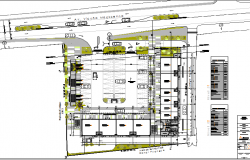Basement ground floor layout plan details of shopping mall dwg file
