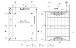 Basement plan and roof plan detail dwg file
