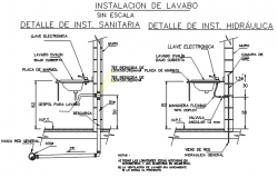 Basin plan and elevation detail dwg file