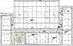 Basket ball court and electrical layout plan dwg file