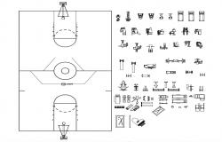Basketball Court AutoCAD File